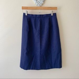 Laura Gayle navy blue pencil skirt